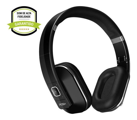Fone De Ouvido Headphone Bluetooth Celular Posh Punch Bk