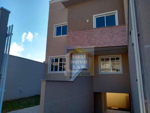 Sobrado Com 3 Dormitórios À Venda, 133 M² Por R$ 390.000,00 - Santa Cândida - Curitiba/pr - So0327