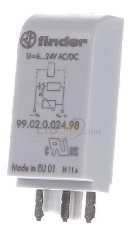 Modulo Sinalização Proteç 6..24v Ac/dc 9902002498 Finder