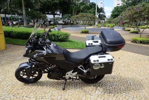 Bau Lateral 35 Aluminio Honda Moto Cb 500x Cb500 + Suportes