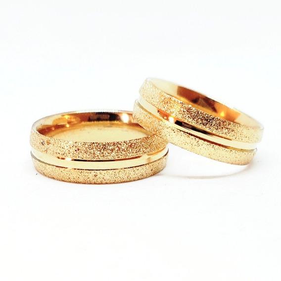 Par Alianças 6mm Moedas Antiga Cor Ouro Casamento E Noivado