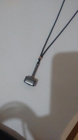 Colar Martelo De Thor Mjölnir ,prata Ajustável