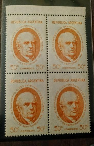 Estampillas Argentinas Sarmiento Cuadro Mint