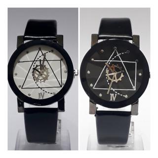 Relojes Pulsera Prisma Fondo Blanco / Negro Por Mayor Por 5