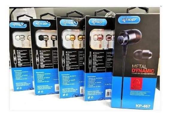 Kit Fones De Ouvido Intra Auricular Com Microfone Knup