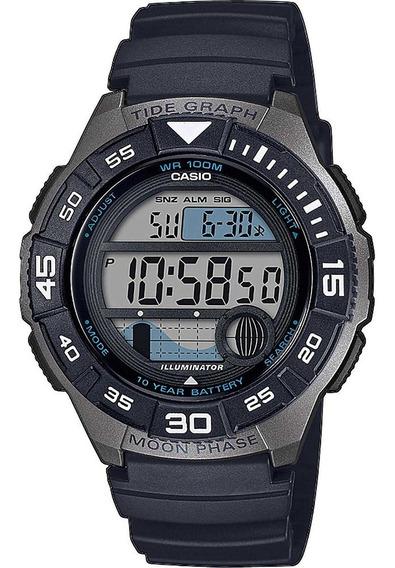 Relógio Casio Ws- 1100h-1avcf Fases Da Lua Gráfico De Marés