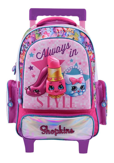 Mochila Carro Shopkins 3d 14 PuLG Original Msh708 Footy Edu