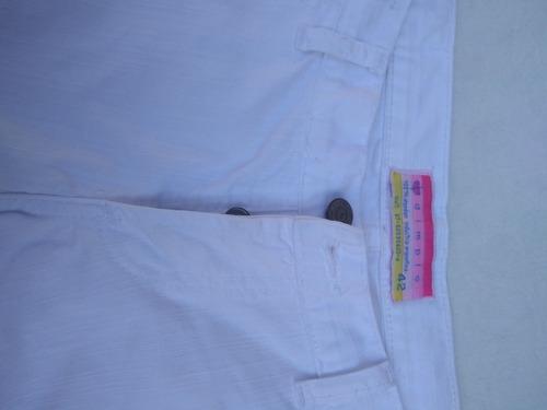 Pantalón Capri Blanco Talle 42