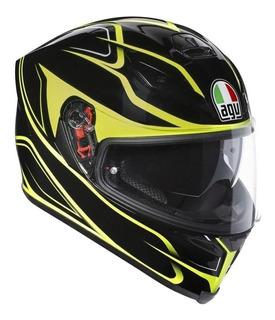 Black//Amarillo AGV Casco Moto K-3/SV E2205/Top plk L