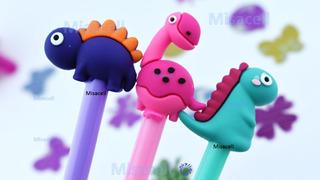 Kit 12 Plumas Kawaii Dinosaurios Psicodélicos :)