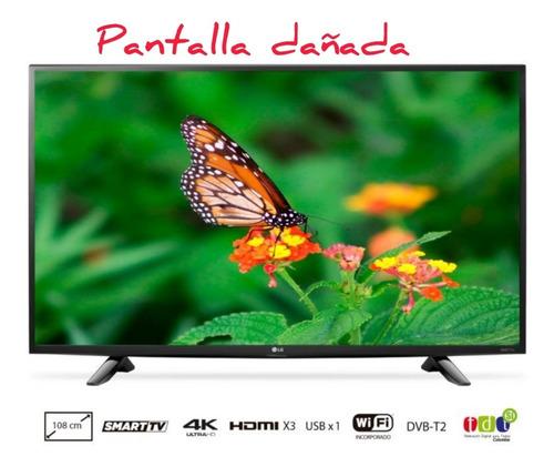 Imagen 1 de 3 de Televisor Pantalla Dañada LG 43  Smart 4k 43uh610t