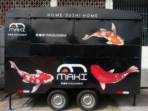 Food Truck Trailer 3,5m X 2m 2 Eixos