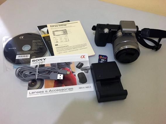 Câmera Sony Alpha Nex 5 14.2mpx Replex Completa