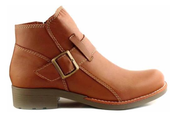 Botineta Cuero Mujer Briganti Zapato Bota Invierno Mcbo24834