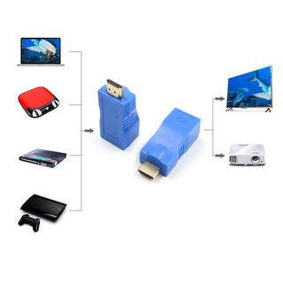 Hdmi Extensor Transmisor Tx / Rx Adaptador 30m Rj45 Ethernet