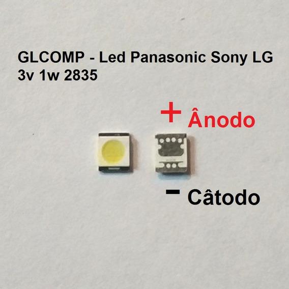 Led Smd Tv 2835 3v 1w Panasonic Sony LG B. Fr. 60 Pçs Carta