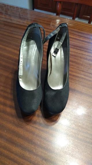 Zapatos Rasados Con Plataforma Nro 37/8