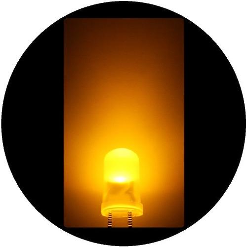 Imagen 1 de 7 de 100 Leds Ultrabrillantes De 5mm -- Amarillo Difuso