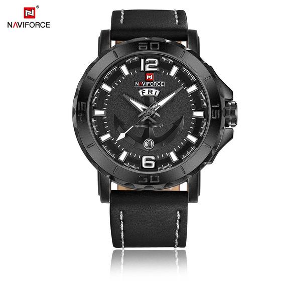 Relógio Masculino Estilo Militar Naviforce 9122 Branco