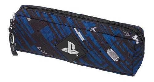 Estojo Simples Triangular Playstation Party Azul - Pacific