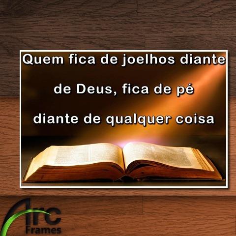 Placa Decorativa Mdf Frase Bíblia Motivacional Vida Cristã
