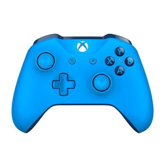Controle Sem Fio Para Xbox One S E X Microsoft - Azul