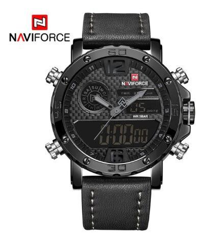 Relógio Masculino Naviforce Militar Pulseira Couro Oferta!!