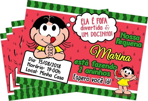 Convite Digital Personalizado Magali Monica Zap Ou Imprimir