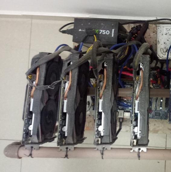 Rig Mineração, 4 Gtx1060 3gb