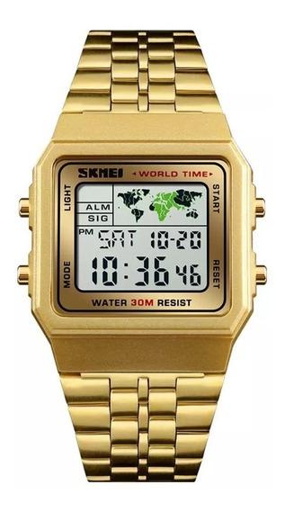Relógio Skmei 1338 Masculino Mapa Mundial Lindo !!!!