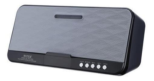 Mini Caixa De Som Bluetooth Dock Boombox Usb Aux P2 Garantia