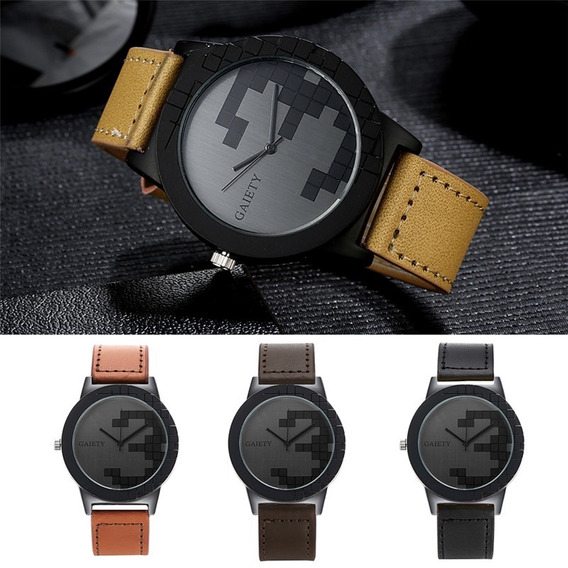 Relógio Masculino Gaiety Militar Pulseira De Couro Original