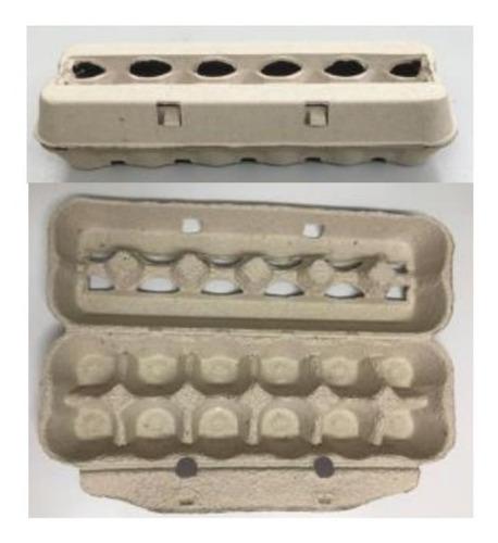 Imagen 1 de 2 de Estuches Y Bandejas Porta Huevos Biodegradable