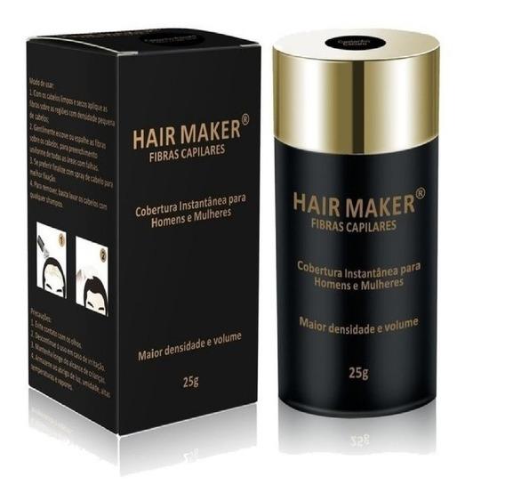 Hair Maker Fibras Capilares 25 Gramas - Castanho Escuro