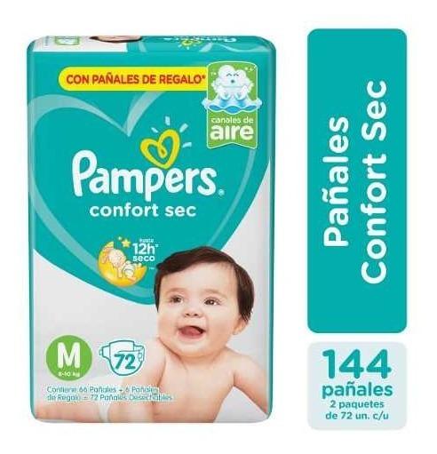 Pañales Pampers Confort Sec Todos Los Talles - Pack X2