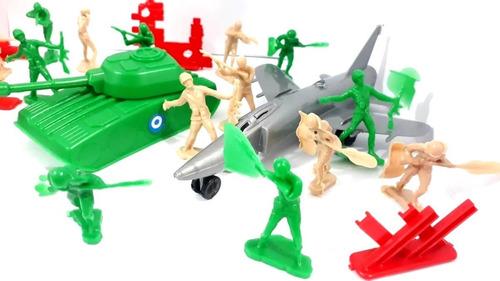 Set Bolsa Soldaditos Combate Grande Juego Niños Guerra Jugar