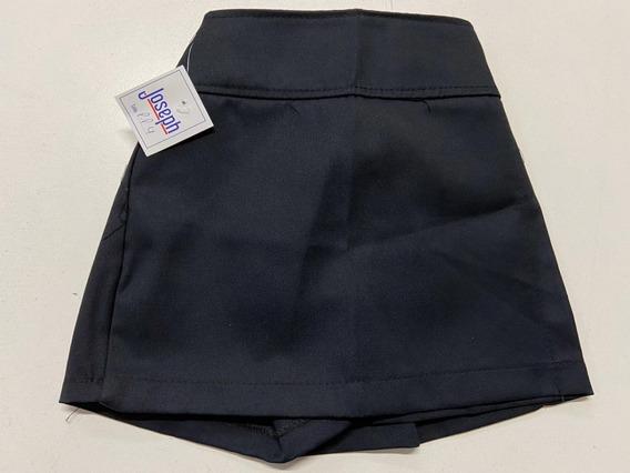 Pollera Pantalon Azul, Escolar, Colegial. Talles 6 Al 10