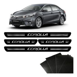 Soleira Da Porta Corolla 2014/2020 Adesivo Protetor 8 Peças