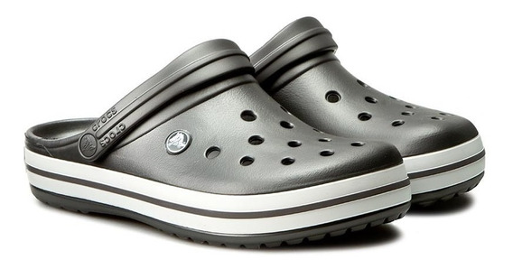 Crocs Crocband Originales -graphite White-