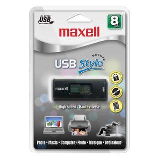 Maxell Usb Style 8 Gb 2.0 Flash Drive 503302 Negro