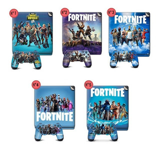 Fortnite Skin Adhesivo Play 4 + 2 Joysticks Ploteo Calco Ps4