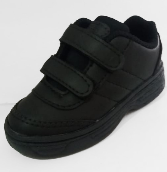 Tênis Colegial Infantil Preto - Velcro