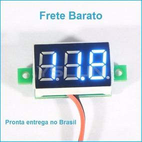 25 Mini Voltímetro Digital 0v~30v Carro Bateria Frete Barato