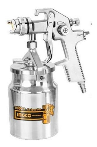 Ingco Pistola De Pintar De Alta Con Tanque 1000cc Asg2101