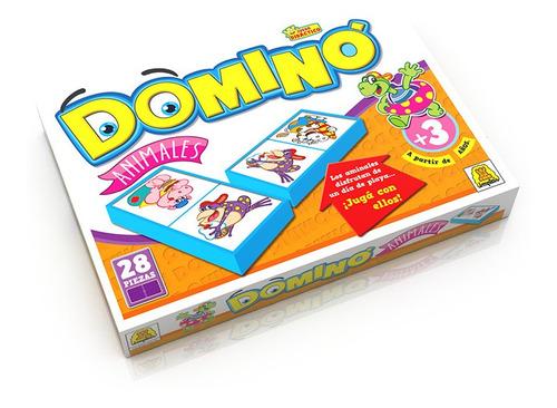 Juego De Mesa Domino Animales Implas 28 Piezas