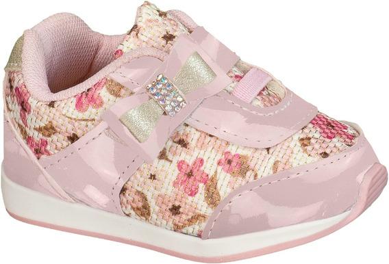Tênis Floral Bebê Menina Infantil 013.025