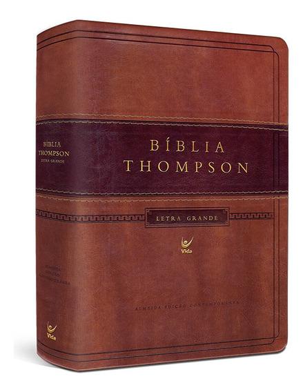 Bíblia Sagrada Estudo Thompson Letra Grande Marrom C/ Indice