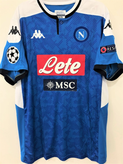 Camisa Do Napoli 2019/20 Uefa Champions League Completa