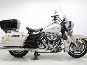 Harley Davidson Road King Police 2013 Branca