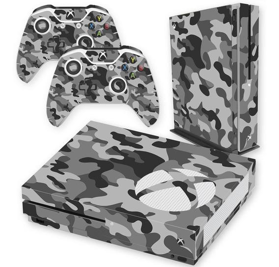 Skin Xbox One S - Camuflado Cinza
